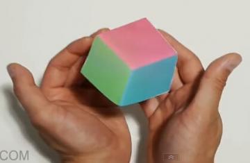 【转载】惊人的浮动立方体